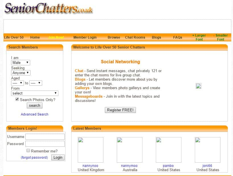 Senior Chatters in July 2008