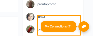 My Connections Chat Bubble
